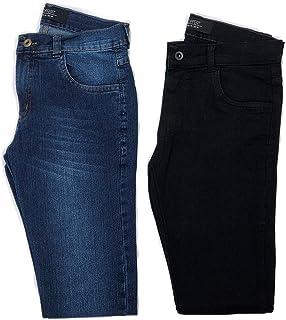 Kit 2 Calças Jeans Lycra Skinny Masculina OSTEM