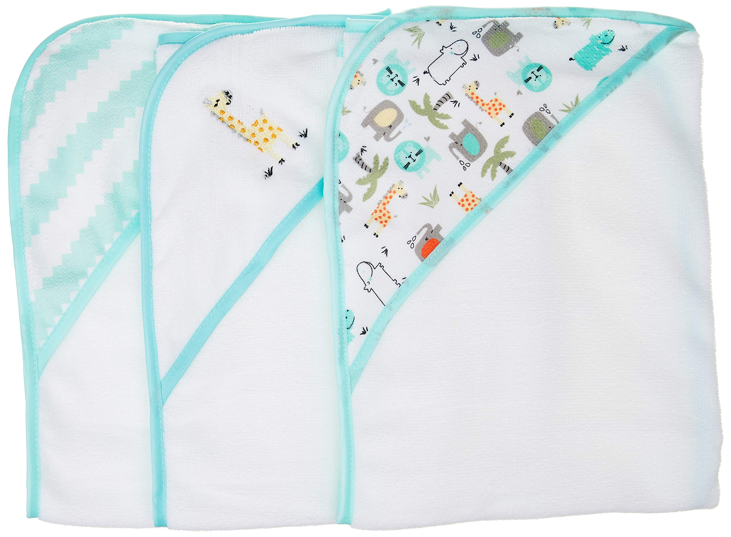Buttons Stitches Infant Hooded Giraffe