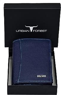 URBAN FOREST Orlando Men's Leather Wallet (Blue)