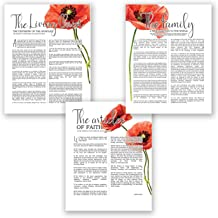 AtoZStudio A66 LDS Wall Art - Set of 3 Posters // LDS Quotes // Family Proclamation // Living Christ // Articles Faith // Artwork Picture Home Decor (11x14)
