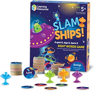 Learning Resources LER8596 Slamships Sight Word Game (110 Piece)