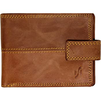 Starhide RFID BLOCKING Mens Real Leather Billfold Wallet Purse Gift Boxed 840