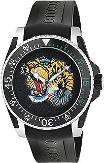 Gucci - Reloj Análogo clásico para Unisex de Cuarzo con Correa en Caucho YA136318