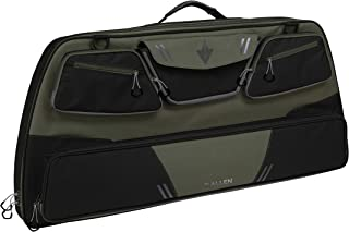 Allen Company - Compound Bow Case (35 to 41 inches) with Extra Storage Pockets and Quiver Pocket in Yellow, Green and Beige