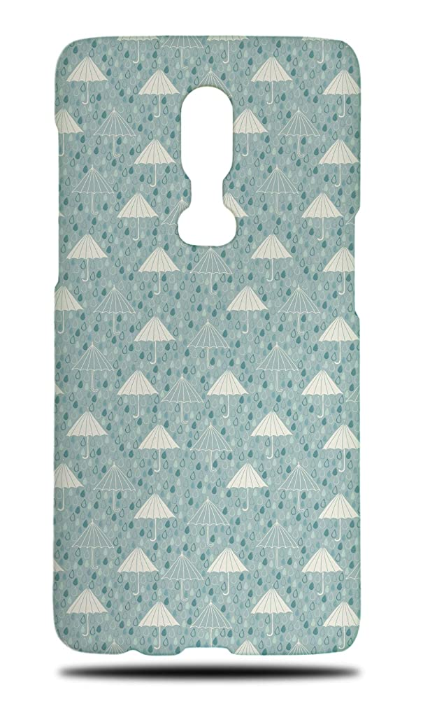 Rain & Umbrella Pattern Hard Phone Case Cover for OnePlus 6