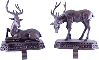 Party Explosions Woodland Deer Holiday Stocking Holders - Set of 2