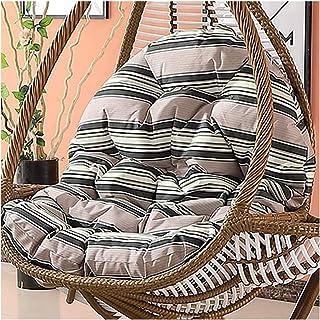 Cesta colgante Cojines para silla con forma de huevo Cojín impermeable para silla oscilante para exterior, Cojín grueso para silla colgante con forma de huevo, Cojín grande para asiento sin soporte