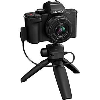 "Panasonic Lumix G100 4k Camera, Mirrorless Camera, Vlogging Camera, Micro Four Thirds Camera with Flip Screen (3""), 12-32mm Lens, 5-Axis Hybrid I.S, 4K 24p 30p Video, Tripod Grip – DC-G100VK (Black)"