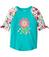 Hatley Kids - Wallpaper Flowers Short Sleeve Rashguard (Toddler/Little Kids/Big Kids)
