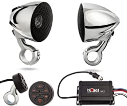 NOAM NMC3 - Waterproof Motorcycle/ATV Chrome Speakers Bluetooth Stereo System
