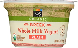 365 Everyday Value, Organic Greek Whole Milk Yogurt, Plain, 5.3 oz