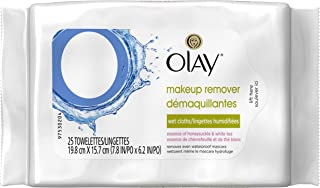 Olay makeup Remover Wet Cloths / Wet Wipes Honeysuckle & White Tea 25 Count Pack of 4 = 100 Wipes