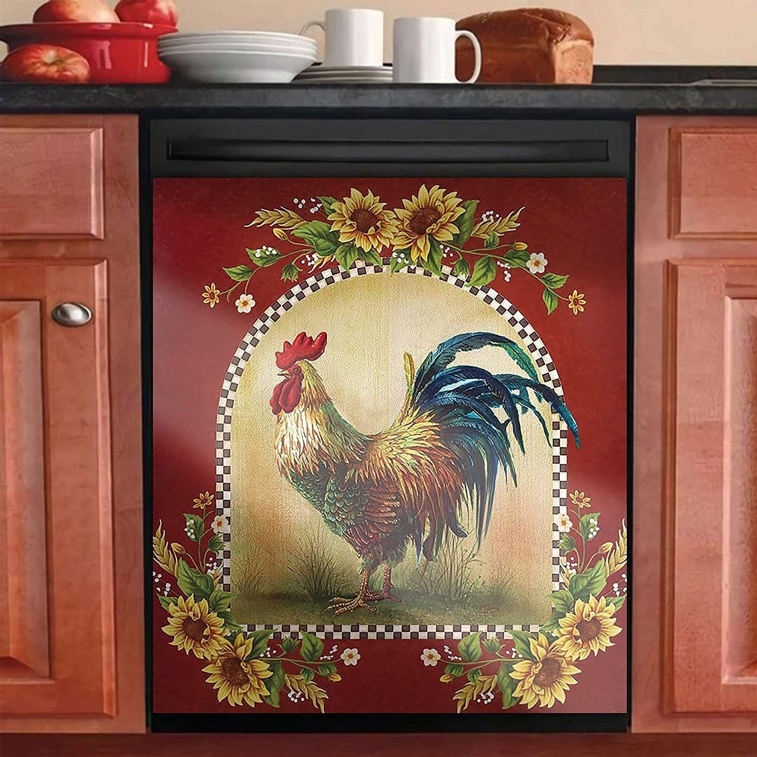Magnetic Brand new Dishwasher Max 40% OFF Sticker Farmhouse Face Chicken Rooster Dish