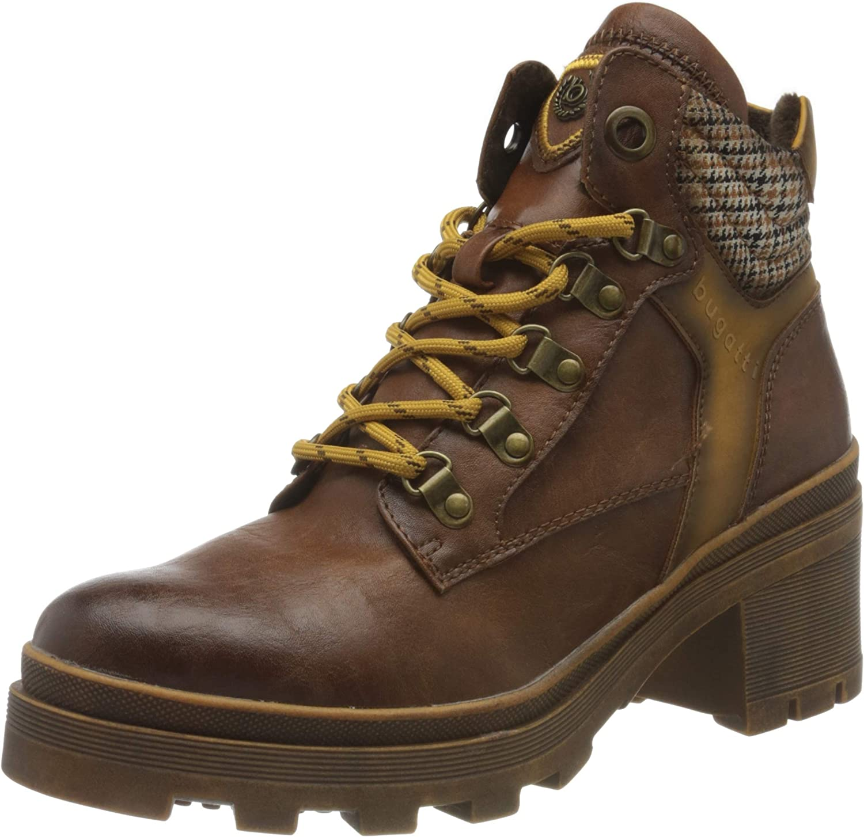 bugatti 市場 Women's 431774355955 Ankle Boot 8 us お買い得 Yellow Cognac