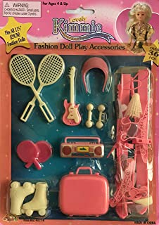 """Lovely Kimmie Fashion Doll Play Accessories (Sports, Exercise & Music) 36+ Pieces for Barbie Doll & Other 11.5"""" Fashion Size Dolls (1999)"""
