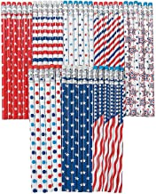 Patriotic Patterns Pencil Bulk Assortment - 72 Pencils - Fourth of July School Supplies
