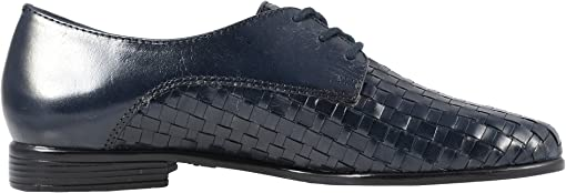 Navy Woven/Smooth Leather