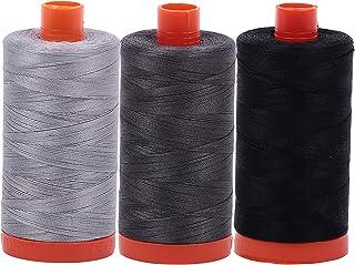 Light Robins Egg Light Wedgewood 2024+2710+2725 Aurifil Mako 100/% Cotton 50wt Thread 3 Large 1422yd Spools: White