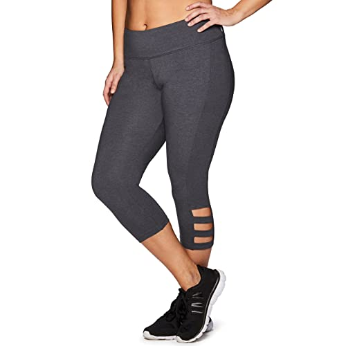 e6bef1a0aa6b1 RBX Active Women's Plus Size Cotton Spandex Fashion Workout Yoga Capri  Leggings