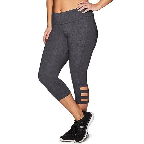 ffb828ec8e54b RBX Active Women s Plus Size Cotton Spandex Fashion Workout Yoga Capri  Leggings