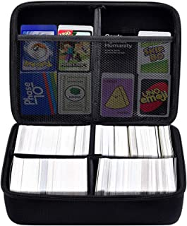 PAIYULE Extra Large Hard Case (2 Row) for Cards Against Humanity. Fits The Main Game,Includes 4 Removable Dividers. Fits U...