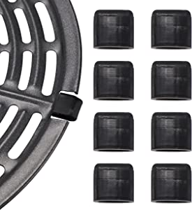 Air Fryer Rubber Tips,8 Pcs Air Fryer Replacement Rubber Bumpers,Air Fryer Silicon Rubbers Fit Front Opening Air Fryer Crisper Plate, Air Fryer Replacement Parts for Air Fryer Grill Pan