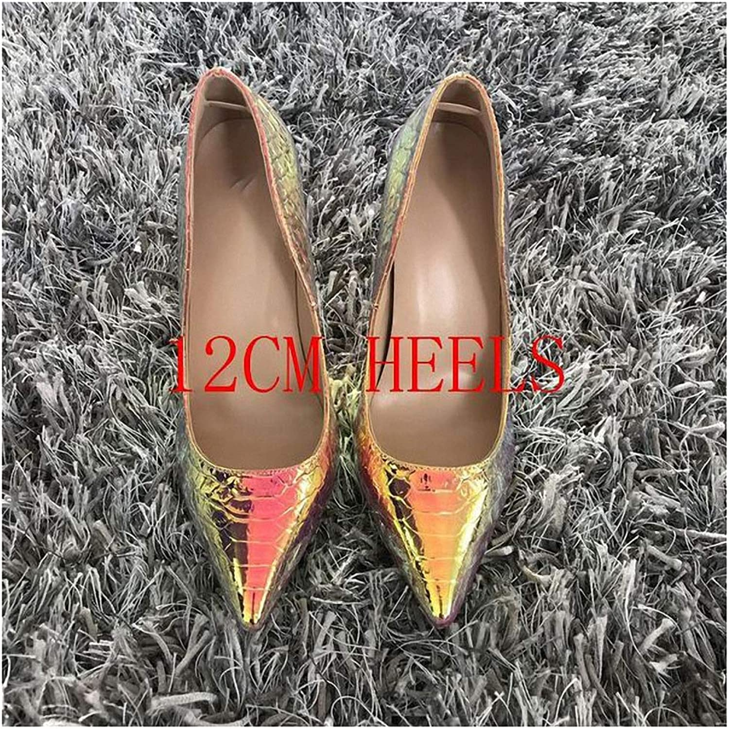 Womens High-Heeled Pumps shoes Women shoes Stiletto High Heels Women Pumps Snake Printing Leather Pointed Toe Ladies Party Wedding Woman shoes