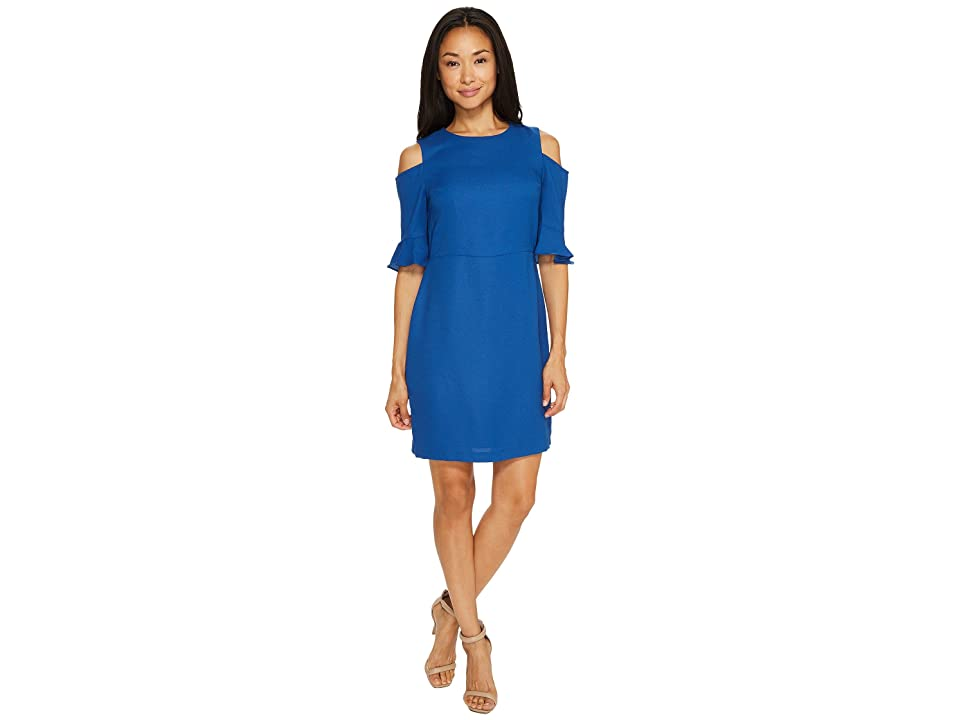 CeCe Emily Cold Shoulder (Monaco Blue) Women