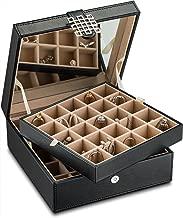 wooden earring box organizer