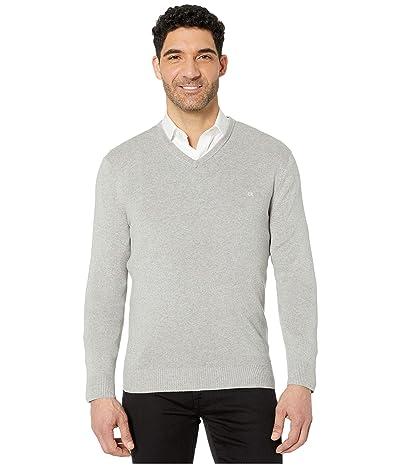 Calvin Klein Cotton Modal Long Sleeve V-Neck (Heroic Grey Heather) Men