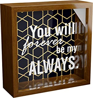 Gifts for Husband | 6x6x2 Memorabilia Shadow Box | Wooden Keepsake with Glass Front for Couple | Unique Gift for Husbands ...
