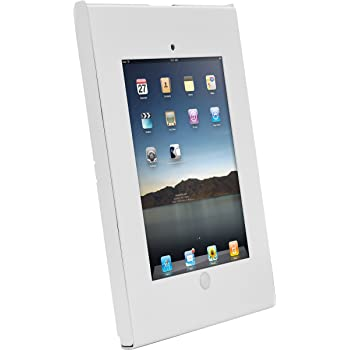 Anti-Theft Tablet Security Case Holder - Metal Heavy Duty Vesa Wall Mount Tablet Kiosk, Mounts on Surface, Landscape/Portrait Mounting, Designed for iPad 2, 3, 4, Air, Air 2 Tablets - Pyle PSPADLKW06