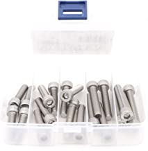 iExcell 20 Pcs M8 x 30mm / 35mm / 40mm / 45mm / 50mm Stainless Steel 304 Hex Socket Head Cap Screws Bolts Assortment, Fully Threaded