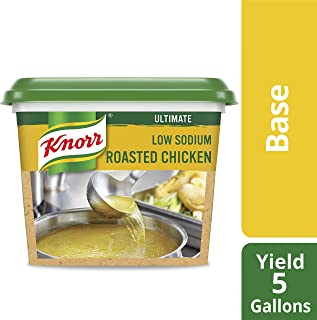 Knorr Professional Ultimate Low Sodium Chicken Stock Base Gluten Free, No Artificial Flavors or Preservatives, No added MSG, Colors from Natural Sources, 1 lb, Pack of 6