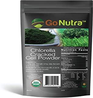 Chlorella Powder 1 lb Organic, raw, Non-GMO. 100% Pure Cracked Cell Wall Green Superfood High Protein Chlor...