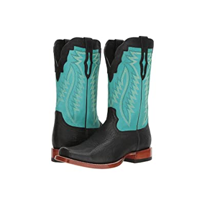 Ariat Relentless Prime (Black Bullhide/Light Aqua) Cowboy Boots