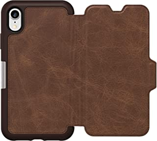 OtterBox Strada Series Folio Leather Wallet Case for iPhone Xr - Non-Retail Packaging - Espresso