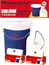 Shalimar Premium (White) Garbage Bags (Small) Size 43 Cm X 51 Cm 6 Rolls (180 Bags) (Trash Bag/Dustbin Bag)
