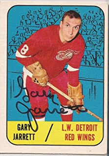 Gary Jarrett Signed 1967/68 Topps Card - Hockey Slabbed Autographed Cards