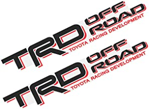 Sponsored Ad - TRD Off Road Racing Development Truck Decal Set of 2 Clear Vinyl Stickers