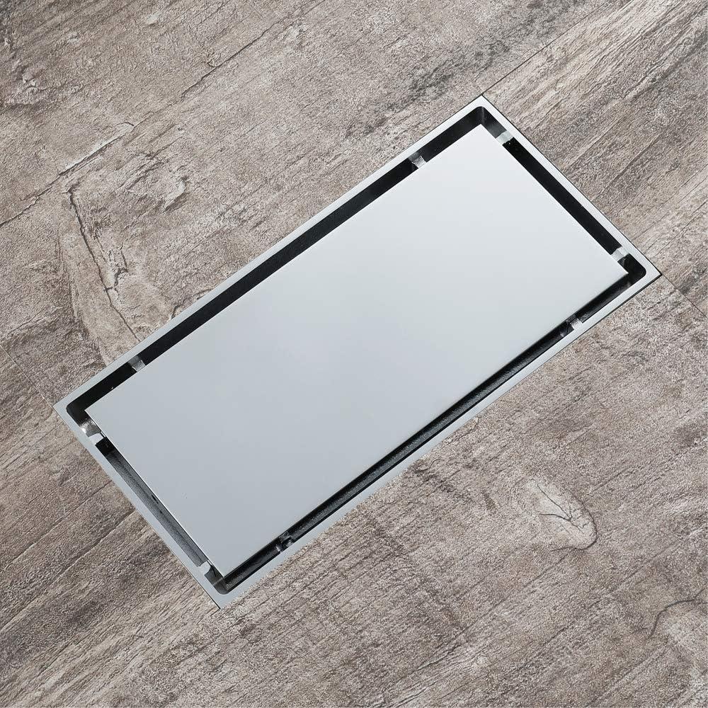 XYSQWZ Insert Tile Floor Drain B Rectangle Limited price 20X10cm Brass Chrome Super-cheap