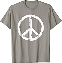 Distressed Hippie Peace Sign T-shirt Cool Vintage Hippy Tee