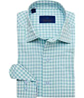 Oversized Gingham Blend Sport Shirt