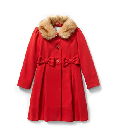 Janie and Jack Fur Collar Coat (Little Kids/Big Kids) (Red) Girl