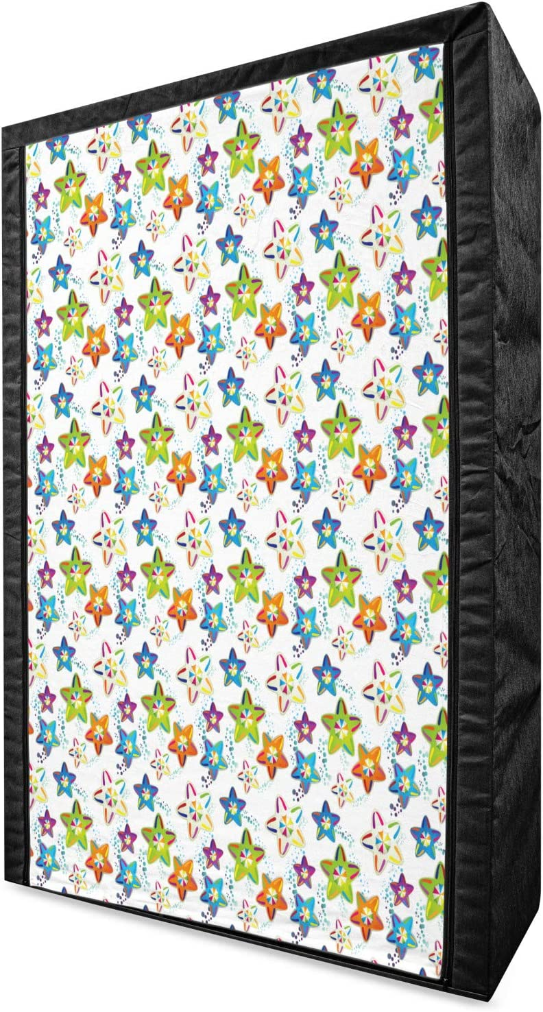 Charlotte Mall Ambesonne Stars Free shipping Portable Fabric Colorful Wardrobe Um with