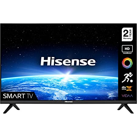Hisense 32A4GTUK (32 Inch) HD Smart TV, with Natural Colour Enhancer, DTS Virtual X, VIDAA U5 OS, Youtube, Netflix, Freeview Play and Alexa Built-in and WiFi (2021 NEW)