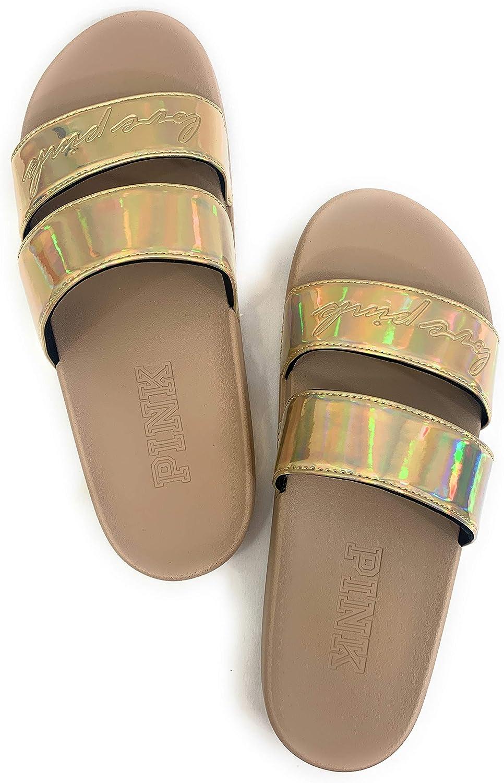 Victoria's Secret Pink Double Strap Slides Sandals