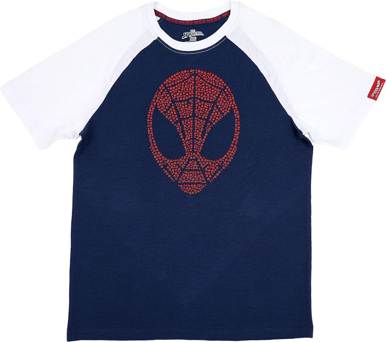 Marvel Big Boy's Spider-Man Raglan T-Shirt with Metallic Graphic