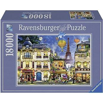 Ravensburger- Puzzle 18000 pièces Promenade du Soir dans Paris Adulte, 4005556178292