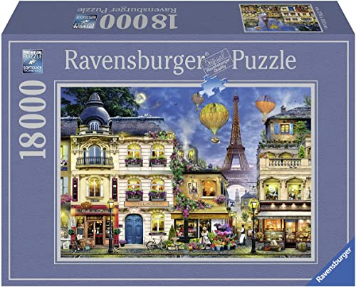 Ravensburger 17829 17829-Abendspaziergang durch Paris-Erwachsenenpuzzle